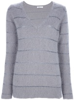 See by Chloe striped v-neck sweater