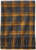 Pendleton Wool Eco-wise Washable Throw Blanket (Charcoal/Copper Plaid, One Size)
