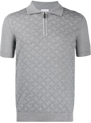 Brioni Patterned Polo Shirt