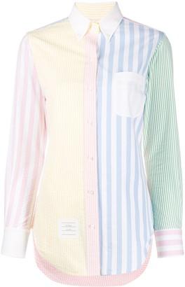 Thom Browne Stripe Detail Button Down Shirt