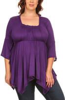 Canari Purple Handkerchief Top - Plus