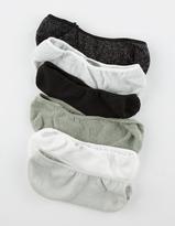 Full Tilt 6 Pack Glitter No-Show Socks
