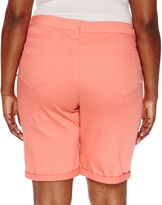ST. JOHN'S BAY St. John's Bay Denim Bermuda Shorts-Plus