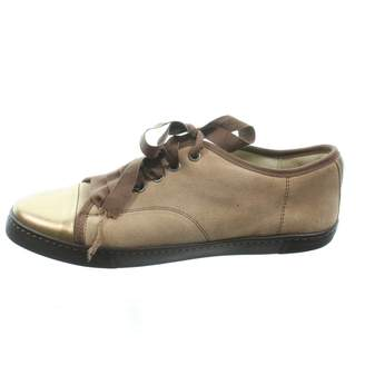 Lanvin Brown Suede Trainers