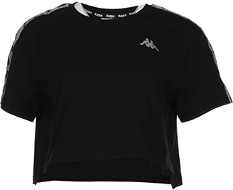 Kappa 222 Banda Daisy (Black/Reflective) Women's T Shirt