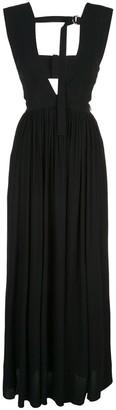 Proenza Schouler Ring Neck Tie Maxi Dress