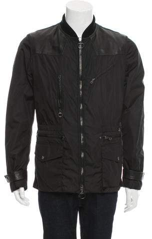 Gucci Leather-Accented Parka Jacket