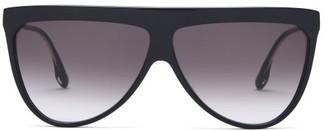 Victoria Beckham Flat-top Aviator Acetate Sunglasses - Black