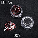 DZT1968 1Box/1.5g Shiny Round Sequins Multicolor Plastic Nail Art Glitter Tips UV Gel 3D Nail Decoration (G)