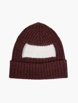 Oamc Maroon Mohair Beanie Hat