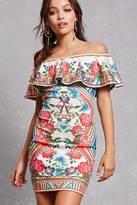 Forever 21 FOREVER 21+ Mosaic Print Bodycon Dress