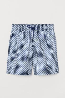 H&M Knee-length Swim Shorts - Blue
