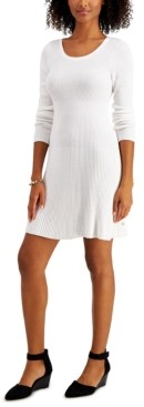 Style&Co. Style & Co Ribbed Sweater Dress, Created for Macy's