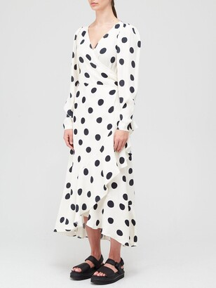Paper London Vacation Spot Wrap Dress - Ivory