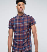 Burton Menswear Tall Short Sleeve Shirt In Check