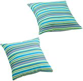 Bed Bath & Beyond Puppy Outdoor Pillow in Multicolor Stripe