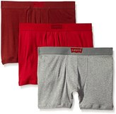 Levi's Men's House Mark 3-Pack Cotton Boxer Briefs