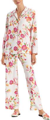 Natori 2Pc Seville Notch Pajama Set