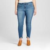 Earl Jean Women's Plus Size Release Hem Skinny Ankle Jean Blue 14W - Earl Jeans