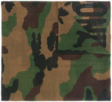 Moschino camouflage logo scarf