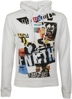 DSQUARED2 Newspaper Collage Hoodie