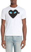 Comme des Garcons Men's Graphic T-Shirt With Heart Applique