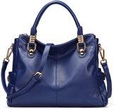 AINIMOER Soft Cowhide Leather Tote Shoulder Bag Nice Women Top-handle Crossbody Handbag Ladies' Purse Messanger Travelling Business