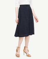 Ann Taylor Textured Dot Midi Skirt
