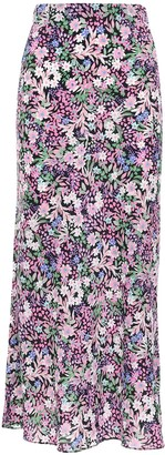 Bec & Bridge Floral Print Silk Midi Skirt