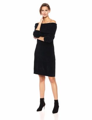 Nine West Women's 3/4 Sleeve Off The Shoulder Sweater Dress