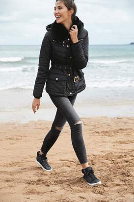 Next Womens Black Quilted Jacket - Black