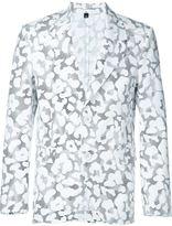 Neil Barrett graphic leopard print blazer
