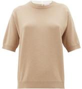Brunello Cucinelli Monili Trim Cashmere, Wool And Silk Sweater - Womens - Beige