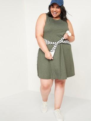 Old Navy Slub-Knit Plus-Size Sleeveless Swing Dress
