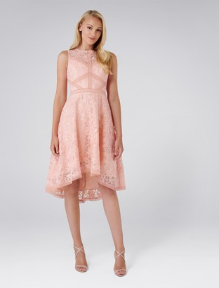 Forever New Octavia Organza Prom Dress - Peach Glow - 4