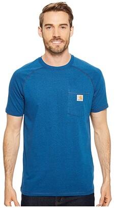 Carhartt Force Cotton Delmont Short Sleeve Tee (Light Huron Heather) Men's T Shirt