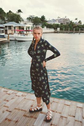Résumé Resume Sofie Floral Zip-Front Midi Dress
