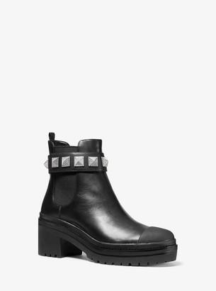 MICHAEL Michael Kors Glenn Studded Leather Boot
