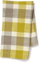 Pehr Designs Slubby Cotton Tea Towel in Grey & Citron
