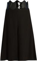 Toga Waved-waistband crepe culottes