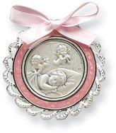 Sterling Silver Pink Crib Medal