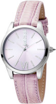 Just Cavalli 32mm Relaxed Watch w/ Pink Leather Strap
