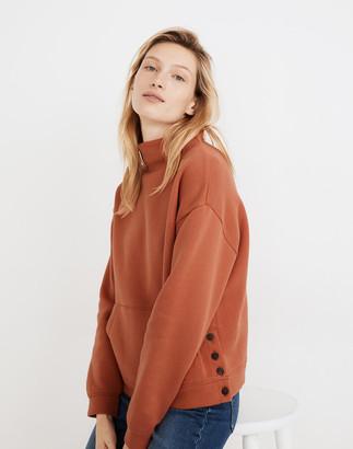 Madewell (Re)sourced Cotton Mockneck Side-Button Sweatshirt