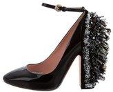 Rochas Embellished Ankle-Strap Pumps