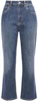 Brunello Cucinelli Faded High-rise Kick Flare Jeans