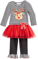 Bonnie Baby Baby Girls' 2-Pc. Reindeer Tutu Tunic & Leggings Set