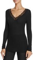Hanro Woolen Lace Long Sleeve Top