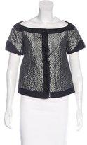 Balenciaga Short Sleeve Embellished Jacket