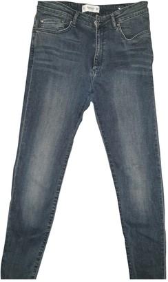 MANGO Grey Denim - Jeans Trousers for Women