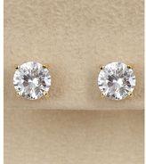 Dillard's sterling collection 8mm cz stud earrings